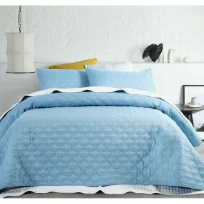 OPACO Embossed Quilted Coverlet Set