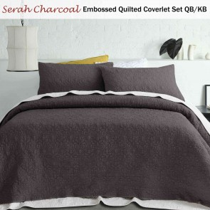 Serah Embossed Quilted Coverlet Set Queen/King by Accessorize