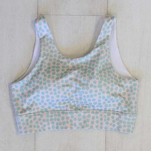 Active Crop Longline Mint Dot Small by Escape To Paradise