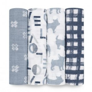 Waverly Classic 4-Pack Muslin Swaddle by Aden and Anais