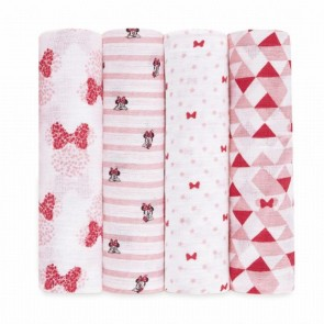 Disney Minnie 4-pack Muslin Swaddles - Aden by Aden and Anais