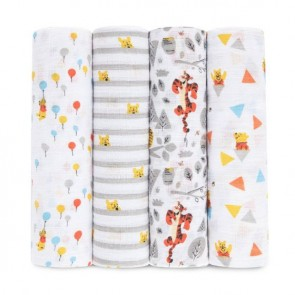 Disney Winnie 4-pack Muslin Swaddles - Aden by Aden and Anais