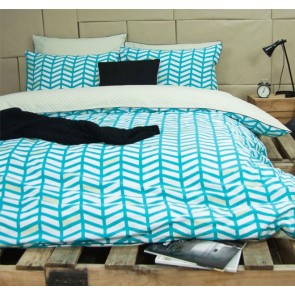 Banyan Teal King Quilt Cover Set by Ardor