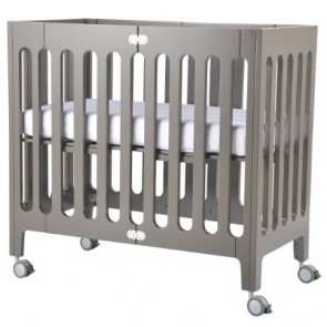 Alma Mini Frost Grey Crib by Bloom