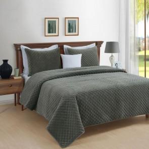 Amalia Cotton Velvet Quilted Comforter Set by Park Avenue