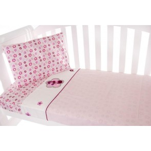 Raspberry Garden 3pce Cot Sheet Set by Amani Bebe