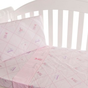 Ballerina Princess 3 Piece Cot Sheet Set by Amani Bebe