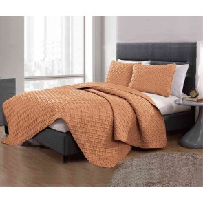 3 Piece Chic Embossed Queen Comforter Set by Kingtex