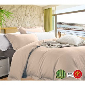 Anti-Bacterial & Hypoallergenic Egyptian Cotton Bamboo Blend Queen Quilt Cover Set