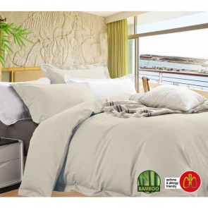 Anti-Bacterial & Hypoallergenic Egyptian Cotton Bamboo Blend King Quilt Cover Set