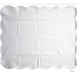 Antique White Throw by Classic Quilts