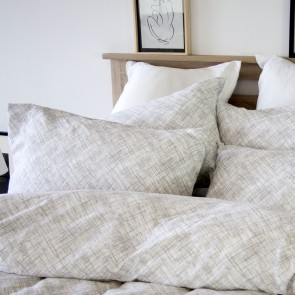 Vinyl Grey Quilt Cover Set by Apartmento