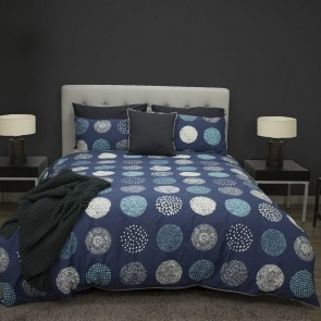 Navy  Kenzie Quilt Cover Set by Ardor