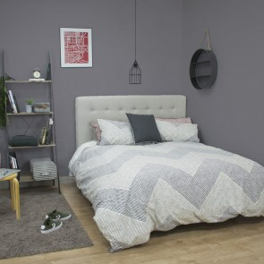 Grey  Wesley Quilt Cover Set by Ardor