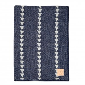 Arrowhead Indigo White Throw by Scout