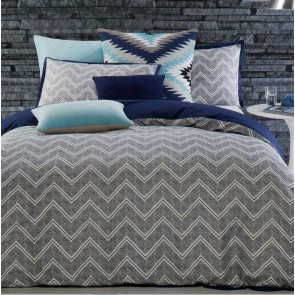 Asha Ink Double Quilt Cover Set by Designers Choice