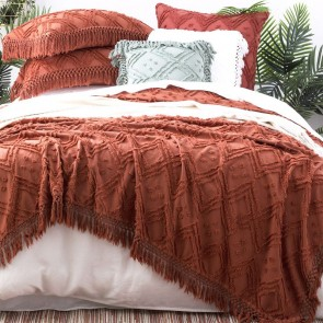 Auburn Medallion 100 % cotton Vintage washed Tuffted Bed Cover set by Park Avenue