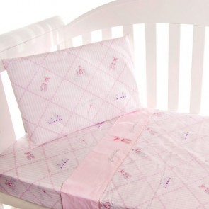 Ballerina Princess 3pce Cot Sheet Set by Amani Bebe