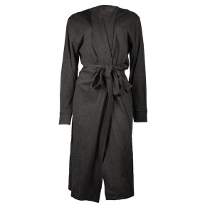 Jersey Hooded Marle Charcoal Bath Robe by Bambury