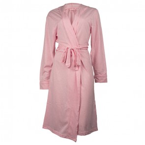Jersey Hooded Pink Bath Robe by Bambury