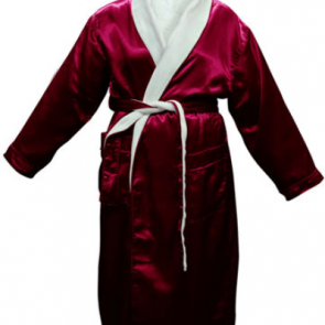 Satin Plush Burgundy Robe by Bambury