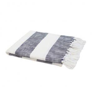Atwell Throw Rug by Bambury Navy