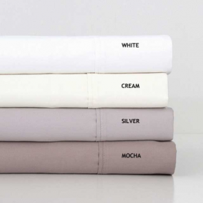 1000TC White Cotton Rich King Sheet Set by Bambury