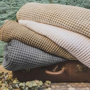 Cotton Waffle Blanket by Bambury