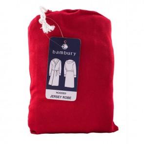Jersey Hooded Ruby Bath Robe by Bambury CS