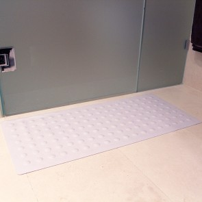 Rubber Shower Mat by Bambury/White