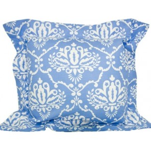 BlueBird Flange Cushion by Lullaby Linen