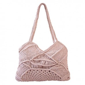 Liana Cotton Macrame Beach Bag by Bambury