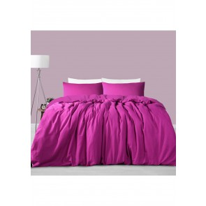 Magenta Linen Cotton Single Quilt Cover Set by Accessorize