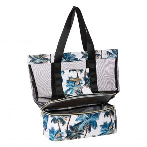 Beach Cooler Bag Palm Trees White by Escape to Paradise