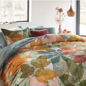 Leafage Multi Cotton Sateen Quilt Cover Set by Bedding House