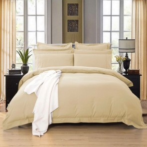 Beige 1000TC Tailored Quilt Cover Set by Fabric Fantastic