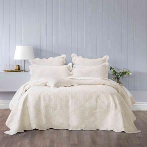 Belle Queen Bedspread Set Ecru by Bianca