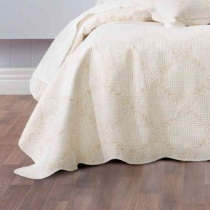 Belle Double Bedspread Set Ecru by Bianca