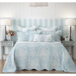 Florence Blue Queen Bedspread by Bianca