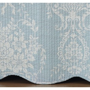 Florence Blue Bedspread Set by Bianca