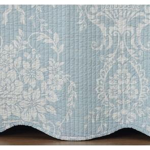 Florence Blue Bedspread Set by Bianca