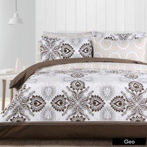 Geo Double Quilt Cover Set by The Big Sleep