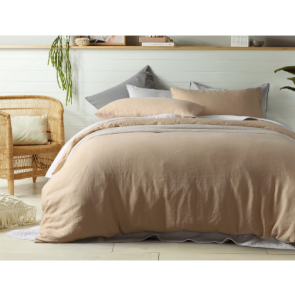 Birch 100% Linen Quilt Cover Set by Vintage Design