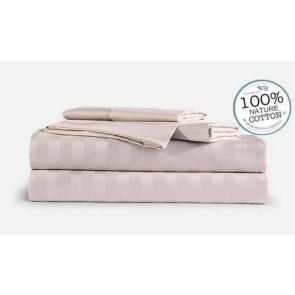 Birch Stripe 1000TC 100% Egyptian Cotton 4 Piece Fitted Flat Sheet Set