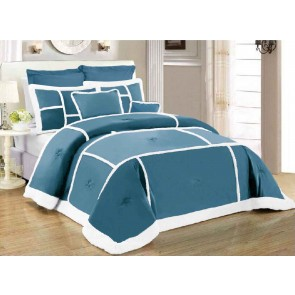7 Piece Soho Sherpa King Comforter Set by Kingtex