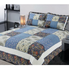 Blue Gaze Bedspread by Classic Quilts