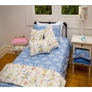 BlueBird Single Quilt Cover Set by Lullaby Linen