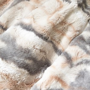 Blush Faux Fur Throw by Abercrombie & Ferguson