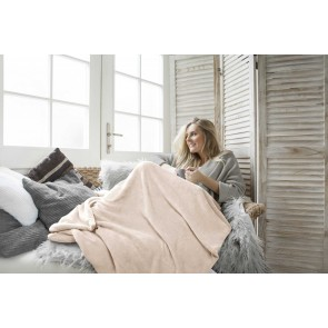 Blush Foot Pocket Blanket by Ardor Home