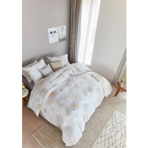 Bora White Cotton Sateen Quilt Cover Set by Bedding House